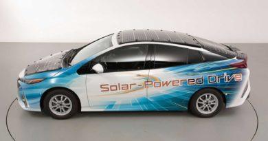 Solar powered Toyota Prius